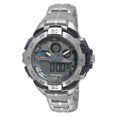 678304f4d6b Relógio Masculino Condor Anadigi CO1154BR 3A - Prata