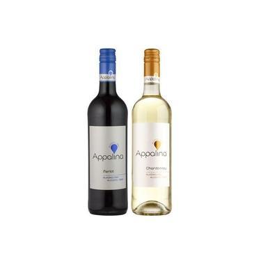 Vinhos Sem Álcool Appalina 1 Merlot E 1 Chardonnay - 750 Ml