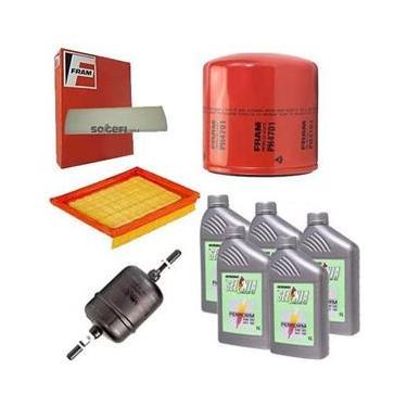 Kit Filtro Ar Condicionado + Combustível + Óleo + Ar + 5 Litros Óleo Motor Selenia 5W30 Sintetico - Corsa 2000 A 2008 - Kit00560
