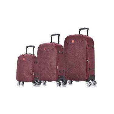 Conjunto de malas de viagem Sion expansível Swiss Move Vinho