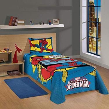 Jogo de Cama Lepper Homem Aranha Spider Man 2 Peças Solteiro