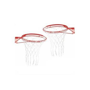 Par Aro para Tabela de Basquete Oficial NBA 45cm Klopf 4039 com Rede