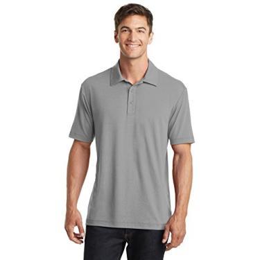 Camisa polo Touch Performance Port Authority algodão, cinza geado, média