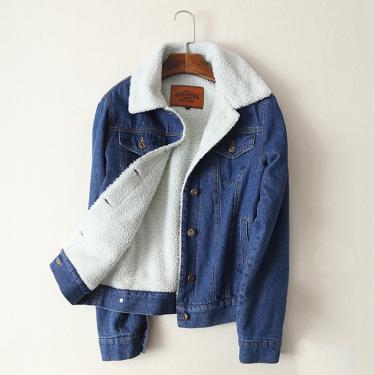 Jaqueta de inverno 2020 nova feminina lambswool jean casaco de manga longa quente jeans casaco 222452927