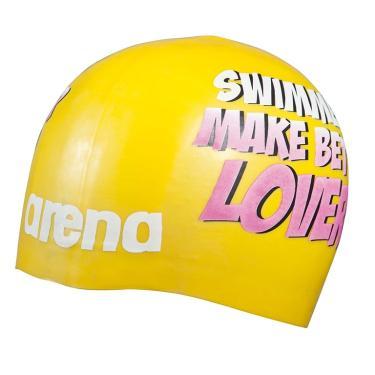 Touca de Natação Poolish Moulded Arena - yellow lovers