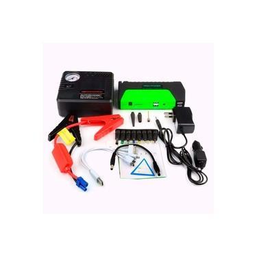 Bateria Auxiliar De Partida Automotiva Carregador Com Compressor Emergencia