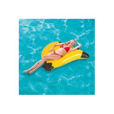 Boia Banana Inflável Flutuante 1,39m x 1,29m Bestway 43160