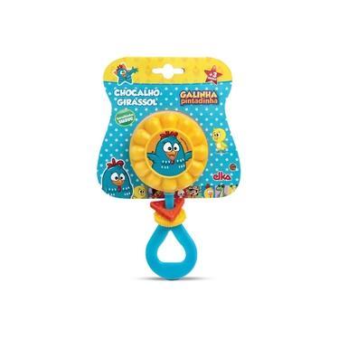 Imagem de Brinquedo Para Bebe Galinha Pintadinha Chocalho Elka Unidade