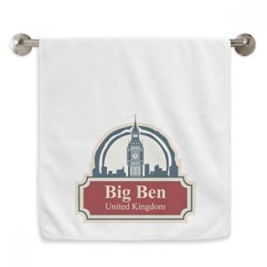 Imagem de DIYthinker United Kingdom Country City Big Ben London UK Toalha de mão Toalha de banho de algodão macio