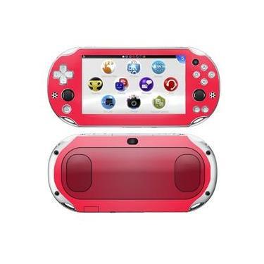 Kit Skin Adesivo Protetor PS VITA Playstation 2000 Slim (Pink)