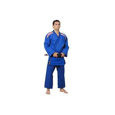 Kimono Judô Trançado Série Prata Azul