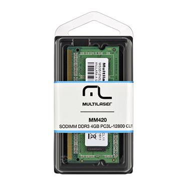 Memória Notebook Multilaser SODIMM DDR3 4GB MM420