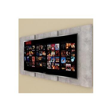 Painel Tv pequeno moderno rustico com cinza