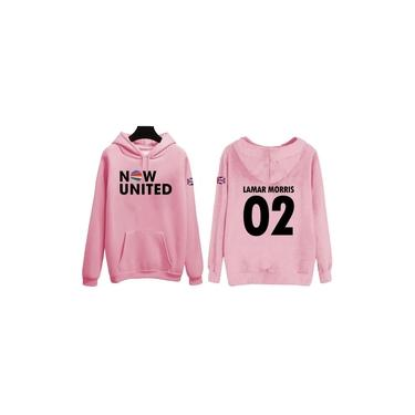 Blusa Moletom Infantil Canguru Now United Lamar 02 Rosa