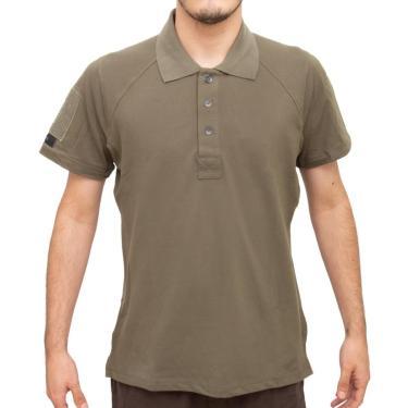 Camisa Polo Control Verde Oliva Tecido Piquet Com Elastano - Invictus