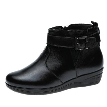 Imagem de Bota Anabela Doctor Shoes 154 Preta 154-PRETO-186-1042 feminino