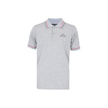 Camisa Polo Kappa Fuerza - Masculina - CINZA Kappa 0e85b3203e672