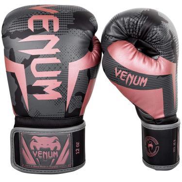 Imagem de Venum Luvas de boxe Elite - Preto/Ouro Rosa - 473 ml