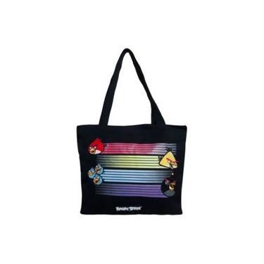 Bolsa Shopping Bag Angry Birds Preta Santino