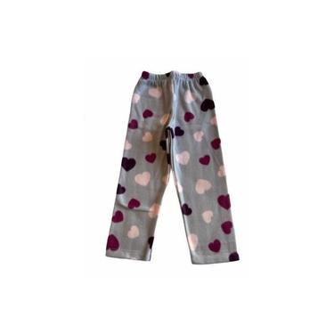 Pijama Infantil Soft Estampado Menina Coração Cinza