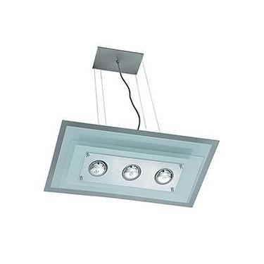 Pendente 31241 Alumínio/Vidro Cromado Vidro Branco - Pantoja&Carmona