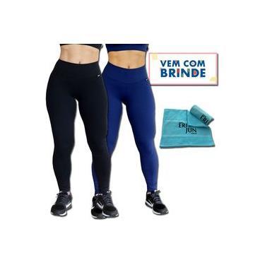 Kit 2 Calças Legging Térmicas - Preta E Azul Marinho