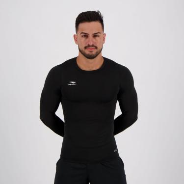 Camisa Térmica Penalty Matis X UV Manga Longa Preta - P