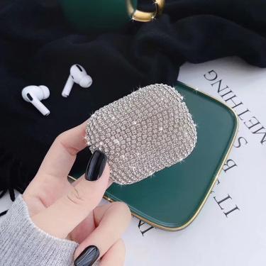 Luxo 3d diamante Brilho bling bluetooth fone de ouvido sem fio de proteção Caso capa para airpods 1 2 para airpods pro 3 Banggood