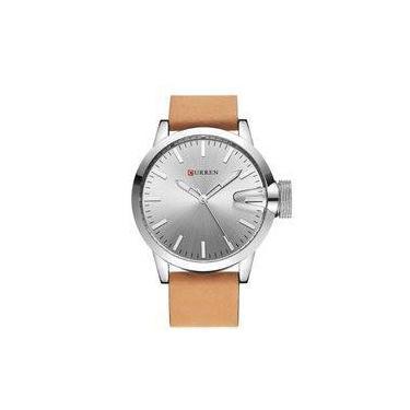 5c83b0a42d3 Relógio Masculino Curren Analógico 8208 Prata