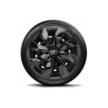 Calota Jogo Aro 14 Black Toyota Etios 2015 2014 2013