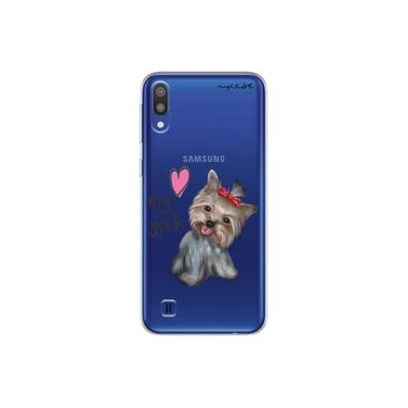 "Capa para Galaxy A30S - I love my York "" nome do seu animal """