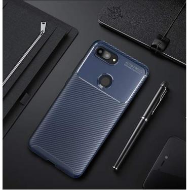Capa Anti Impacto+ Película Full Glue 9d Xiaomi Mi 8 Lite (CAPA ANTI IMPACTO SHOCKPOOF AZUL+ PELÍCULA VIDRO FULL GLUE 9D PRETA)