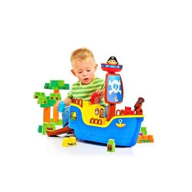 Navio Pirata Baby Land Pedagógico - Cardoso Toys