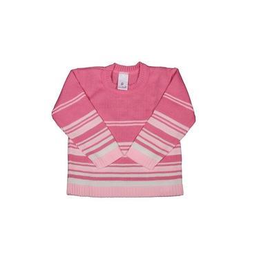 Suéter para Bebê Blusa Menina Cardigan de Tricô Listrado