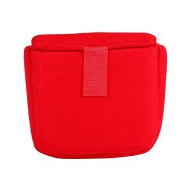 Fishlor Bolsa para câmera DSLR, bolsa para câmera DSLR, almofada para inserção de inserção à prova de choque, bolsa para câmera acessório para fotografia (vermelha)