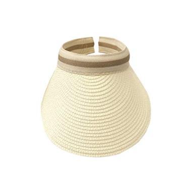 PRETYZOOM Chapéu de praia vazio portátil com proteção solar ao ar livre estilo simples casual chapéu para exterior (bege)