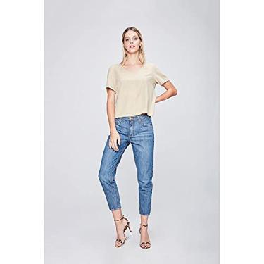 Calça Jeans Boyfriend Cropped Tam: 36 / Cor: BLUE