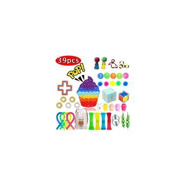Imagem de Pop It Fidget Toys Kit Rainbow Party favorece 39pcs Quebra-cabeça