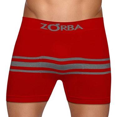 73f2fed62 Cueca Boxer Zorba Seamelss Listras 843 M Vermelho Escuro.