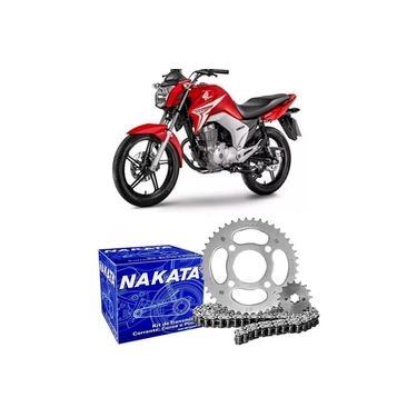 Kit Relação Transmissão Moto Honda Cg 150 2004 A 2015 Nakata