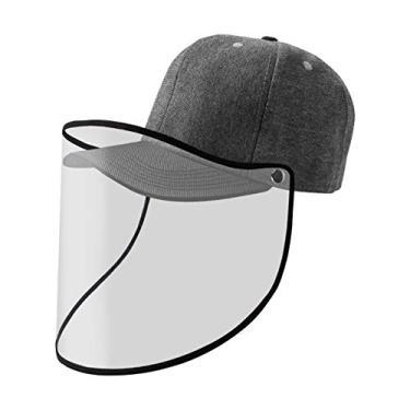 Boné visor face shield grafite/preto