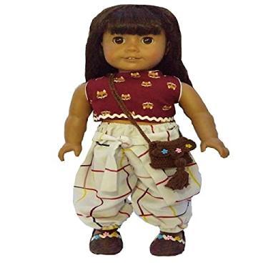 Imagem de Roupa para Boneca - Kit Conjunto Hippie - Veste Bonecas tipo American Girl e Our Generation - Cantinho da Boneca
