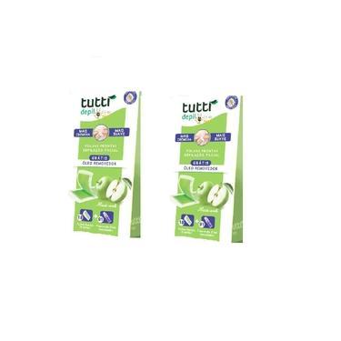 Imagem de Kit 2 Tutti Depil Maça Verde Folhas Prontas Depilação Facial