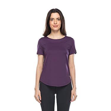 Imagem de Camiseta Fitness Run Compression - Roxo Escuro - M