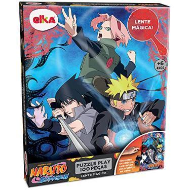 Imagem de Puzzle Play 100 peças - Lente Mágica - Naruto Shippuden, Elka, Colorido