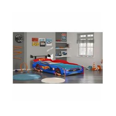 63a02ecebb Cama Infantil Pura Magia Hot Wheels Plus - Azul Vermelho