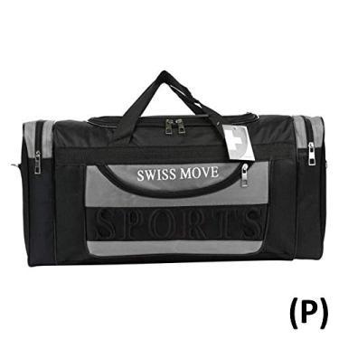 305a9789937 Sacola de Viagem Sports Preta com Cinza PS812522CZ Swiss Move