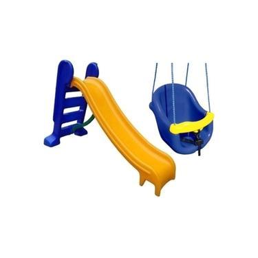 Imagem de Escorregador Infantil 3 Degraus Com Balanço Bebê - Diversão Garantida