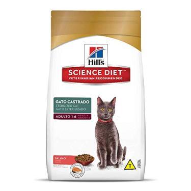 Ração Hill's Science Diet Sabor Salmão para Gatos Adultos Castrados - 1,5kg