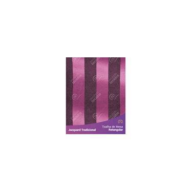 Imagem de Toalha De Mesa Retangular Em Tecido Jacquard Pink E Preto Listrado Tradicional